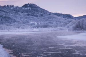 Cold winter at Orkla
